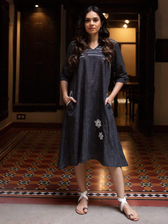 Black-White Checkered Dress (3)