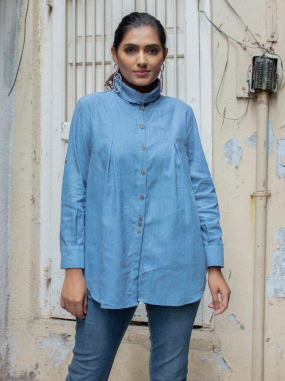 Blue Shirt Top (2)