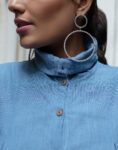 Blue Shirt Top