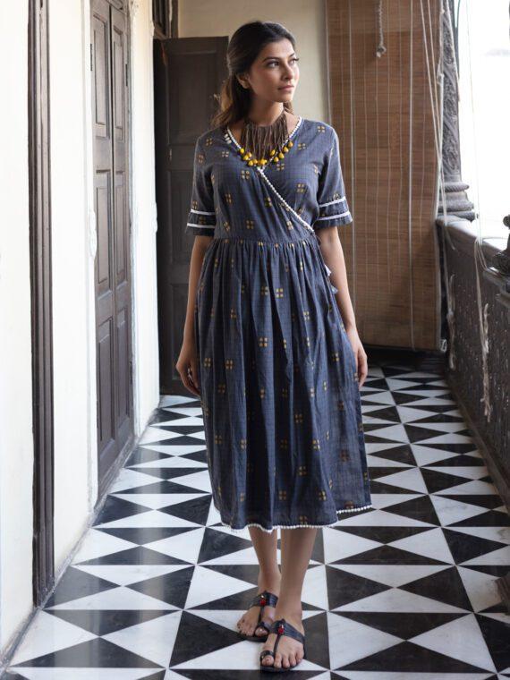 Grey Wrap Dress (3)