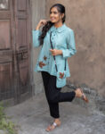 Turquoise Flare Top