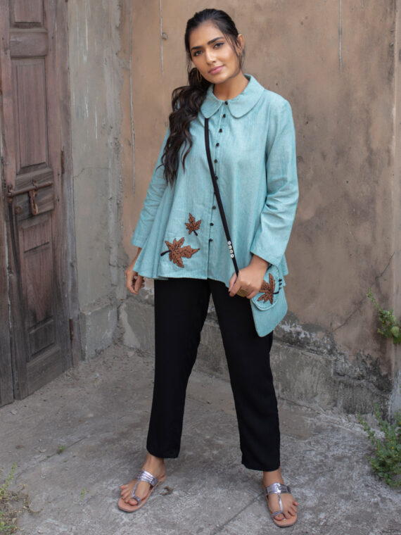 Turquoise Flare Top (3)