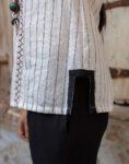 White Striped Top